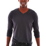 Michael Brandon Long-Sleeve V-Neck Tee