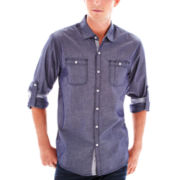 Michael Brandon Long-Sleeve Chambray Shirt