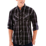 Michael Brandon Long-Sleeve Plaid Shirt
