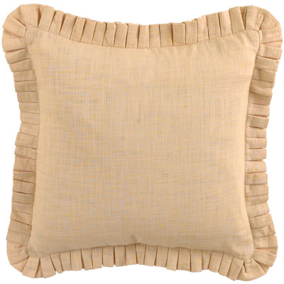 Waverly® Cape Coral Stacked Pleated Square Decorative Pillow