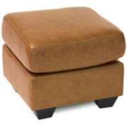 Leather Possibilities Ottoman + FREE SWATCH