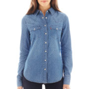 Levi's® Long Sleeve Polka Dot Boyfriend Shirt