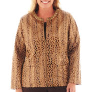 Alfred Dunner® Social Circle Faux-Fur Jacket - Plus