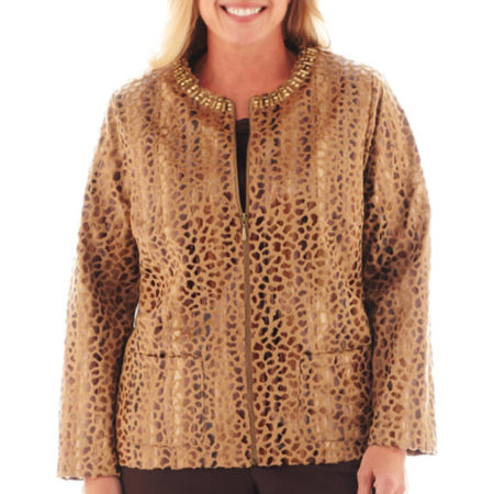 Alfred Dunner Social Circle Faux-Fur Jacket - Plus