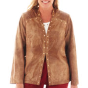 Alfred Dunner® Shimmer Faux-Suede Jacket - Plus