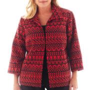 Alfred Dunner® Manhattan Skyline Chenille Jacquard Jacket - Plus