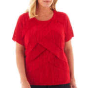 Alfred Dunner® Manhattan Skyline Tiered Accordion Knit Top - Plus