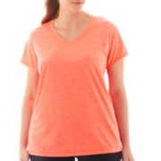 Xersion™ Short-Sleeve Melange T-Shirt - Plus