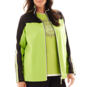 Made For Life™ Pintuck Colorblock Jacket - Plus