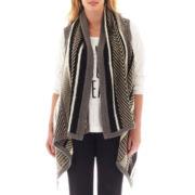 a.n.a® Drape-Front Cardigan Vest - Plus
