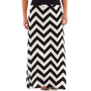 a.n.a® Wide-Waistband Chevron Print Knit Maxi Skirt - Plus