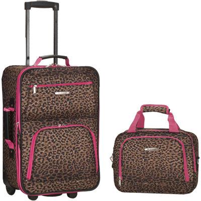 Rockland Rio 2-pc. Luggage Set-Animal Print