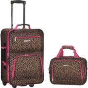 Rockland Rio 2-pc. Luggage Set-Animal Print