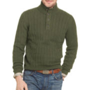 Arrow® Cable-Knit Mockneck Sweater