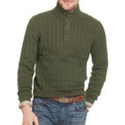 Arrow® Cable-Knit Mockneck Sweater