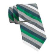 JF J. Ferrar® Heather Multi-Stripe Slim Tie