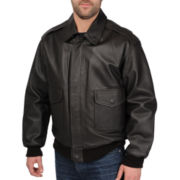 Excelled® Leather Flight Jacket – Big & Tall