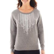 a.n.a® Long-Sleeve Graphic Sweatshirt