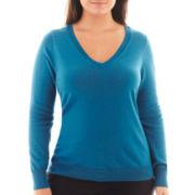 Worthington® Long-Sleeve V-Neck Pullover