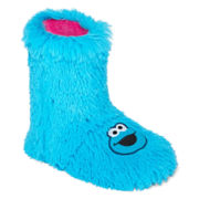 Sesame Street Shaggy Boot Slippers