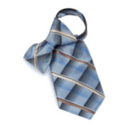 Plaid Zipper Tie–Extra Long