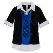 Knit Works Cardigan, Vest and Tie Set - Girls 7-16