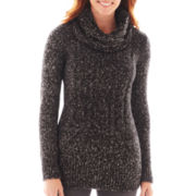 St. John's Bay® Long-Sleeve Sweater Tunic with Scarf