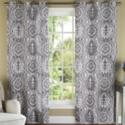 York Grommet-Top Curtain Panel Pair