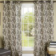 Ikat Plume Grommet-Top Curtain Panel Pair