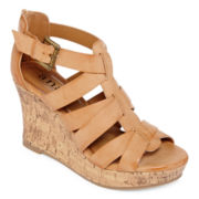 a.n.a® Marble Strap Wedge Sandals