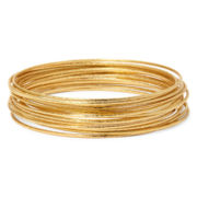 Bold Elements™ Gold-Tone Bangle Bracelet Set