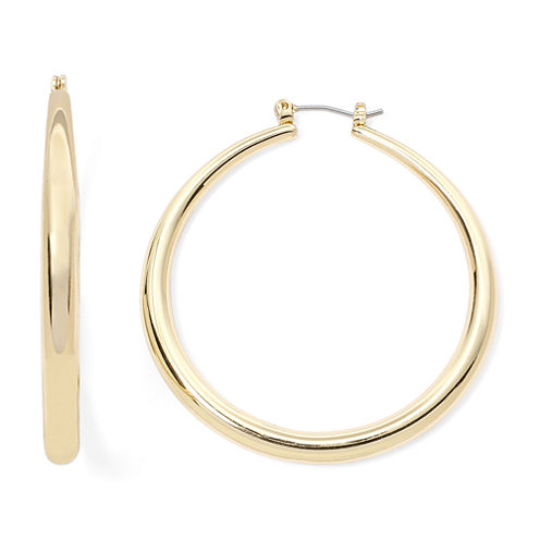 Sensitive Ears Gold-Tone Hoop Earrings