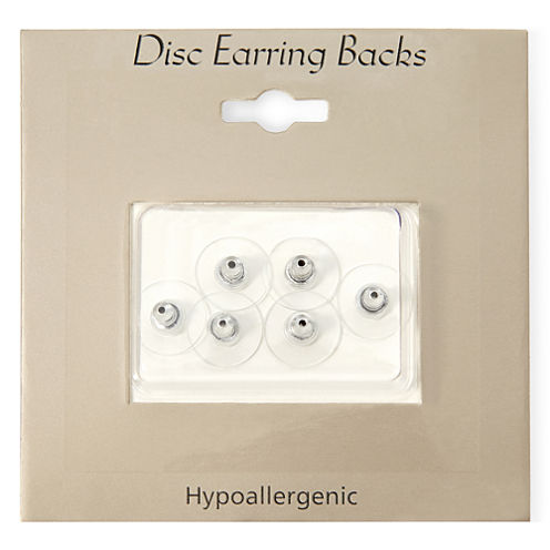 Sensitive Ears Silver-Tone 6-pk. Replacement Disc Earring Backs