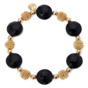 Monet® Black Bead Gold-Tone Stretch Bracelet