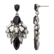 Natasha Crystal and Black Stone Tribal Earrings