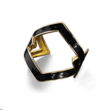 jcpenney.com | KJL by KENNETH JAY LANE Black Enamel and Gold-Tone Link Cuff Bracelet