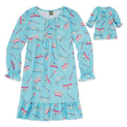 Dollie & Me Crown Nightgown - Girls 4-14