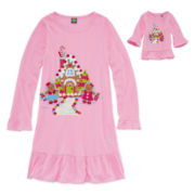 Dollie & Me Gingerbread Nightgown - Girls 4-14