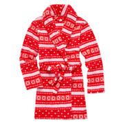 Sleep On It Fleece Fair Isle Robe - Girls 7-16
