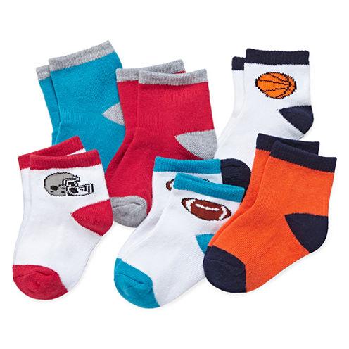 Okie Dokie® 6-pk. Sport Socks - Baby Boys newborn-24m