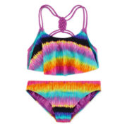 St. Tropez 2-pc. Rainbow Flounce Swimsuit - Girls 7-16