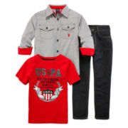 U.S. Polo Assn.® 3-pc. Set - Preschool Boys 4-7