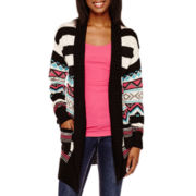 Self Esteem® Long-Sleeve Striped Cozy Cardigan