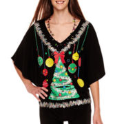 Ransom Christmas Light-Up Poncho