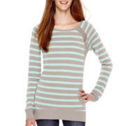 Arizona Long-Sleeve Striped Tunic Sweatshirt