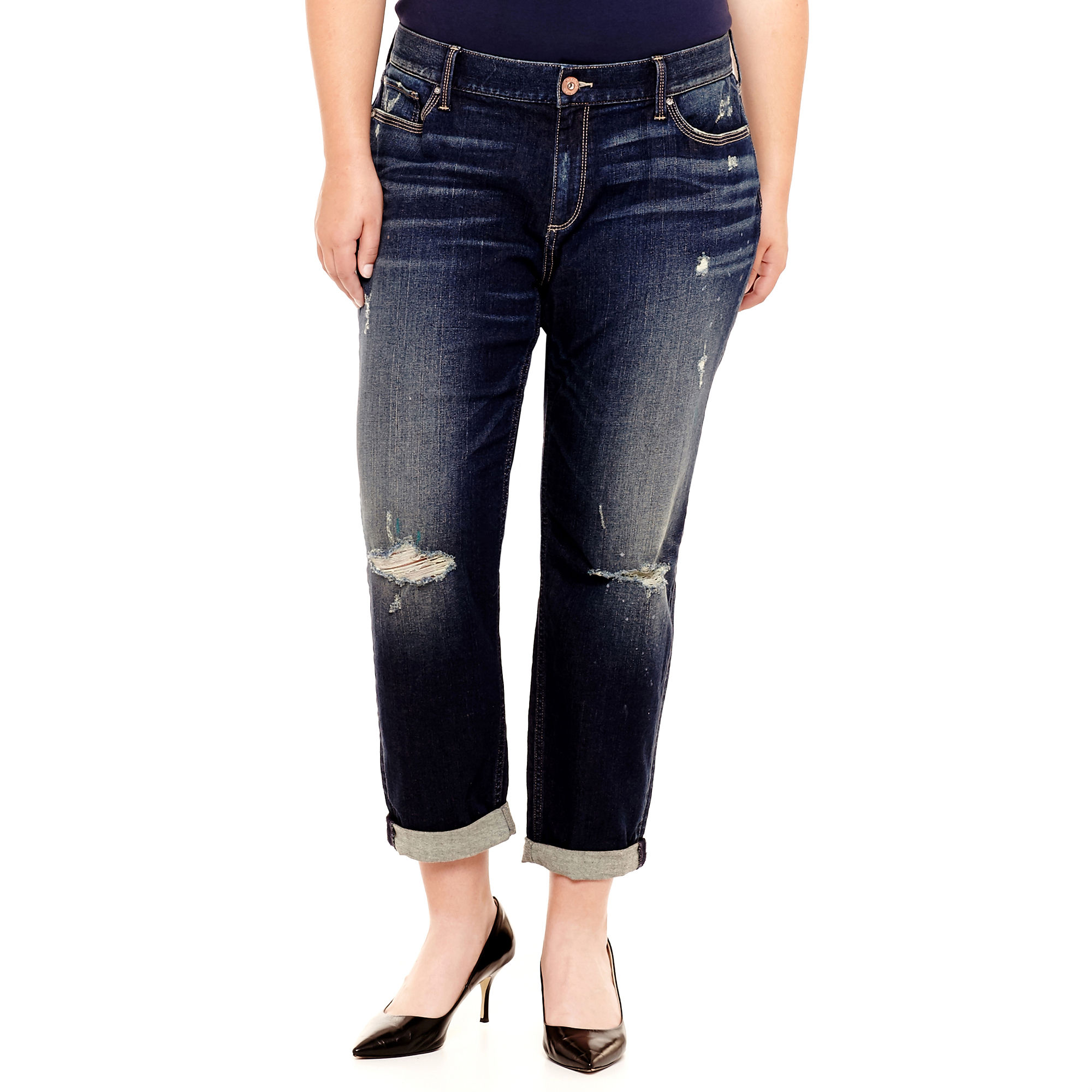 Arizona Boyfriend Jeans - Juniors Plus