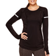 Xersion™ Long-Sleeve Performance Warm-X Crewneck Top