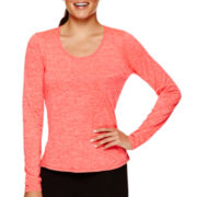Xersion™ Long-Sleeve Melange T-Shirt - Tall