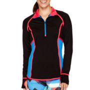 Xersion™ Colorblock Taped Half-Zip Pullover - Tall