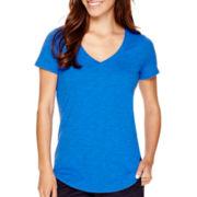 Stylus™ Short-Sleeve Slub V-Neck T-Shirt